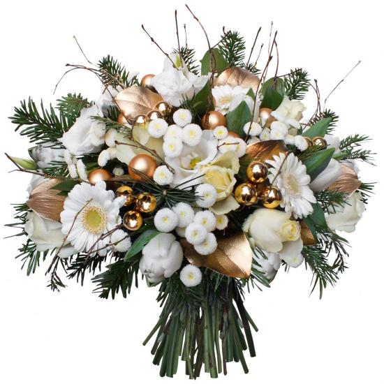 Same day delivery available with the Merry Christmas Bouquet