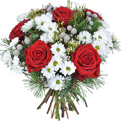 Same day delivery available with the Santa Claus Bouquet