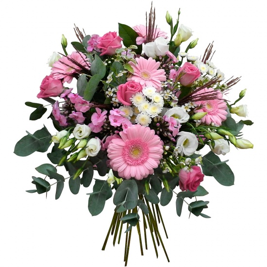 Same day delivery available with the La Vie en Rose Bouquet