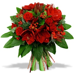 Same day delivery available with the Christmas Eve Bouquet