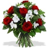 Same day delivery available with the Diamonds and Rubies Bouquet