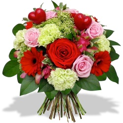 Same day delivery available with the Cupid Bouquet