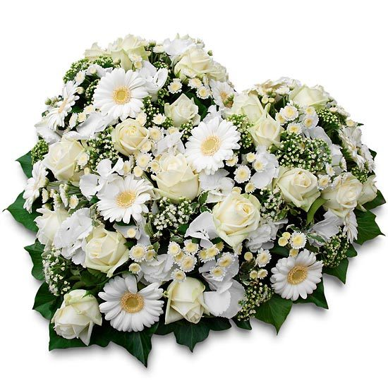 Same day delivery available with the White Funeral Heart