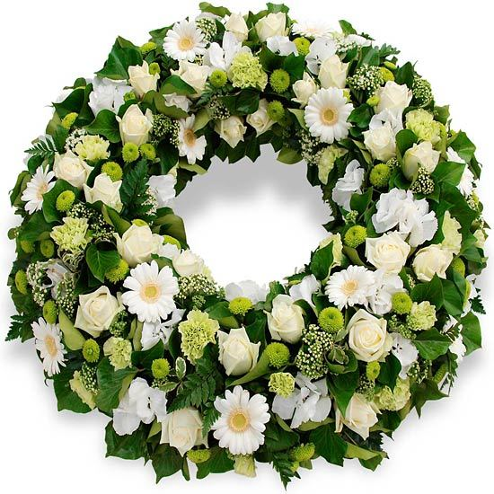Same day delivery available with the Celestis Funeral Wreath