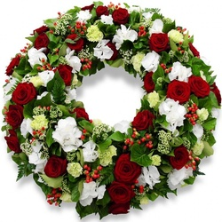 Same day delivery available with the Deus Funeral Wreath