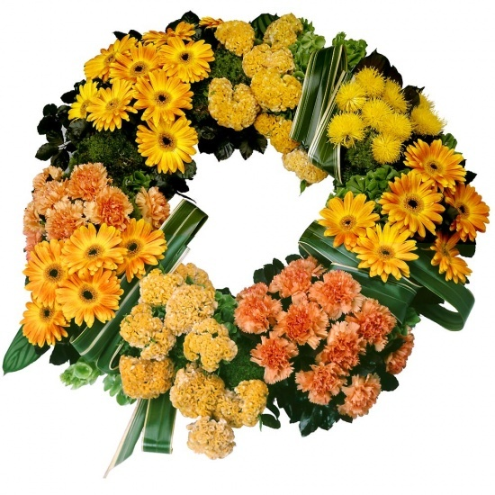 Same day delivery available with the Fatum Funeral Wreath