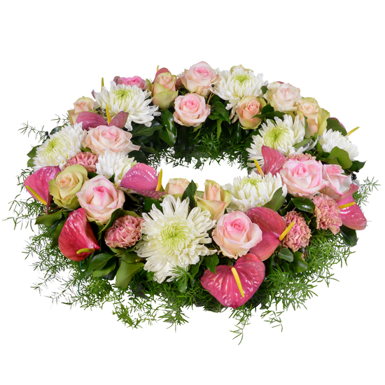 Same day delivery available with the Stella Funeral Wreath