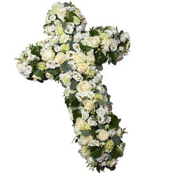 Same day delivery available with the White Funeral Cross