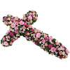 Same day delivery available with the Multicolor Funeral Cross