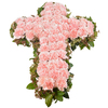 Same day delivery available with the Pink Funeral Cross