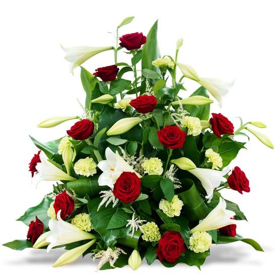 Same day delivery available with the Benedictio - Funeral Spray