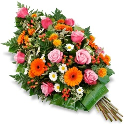 Same day delivery available with the Misericordiae - Funeral Bouquet