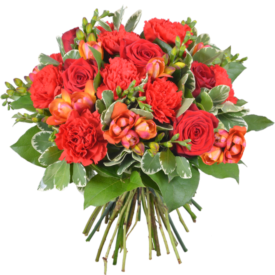 Same day delivery available with the Carmine Bouquet