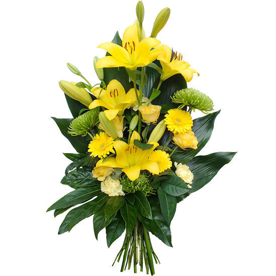 Same day delivery available with the Campana - Funeral Bouquet