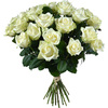 Same day delivery available with the White Roses XL Bouquet