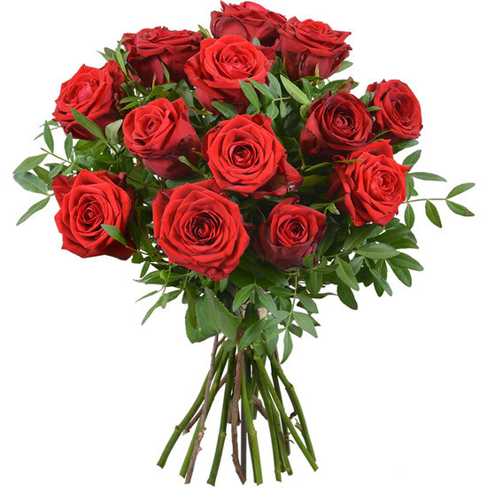 Same day delivery available with 12 Red Roses