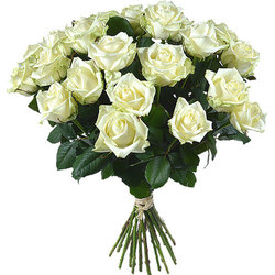 Same day delivery available with the White Roses Bouquet
